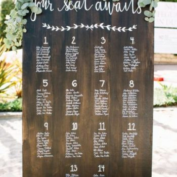Seating chart boards