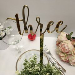Table number & names