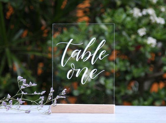 Table Number Names