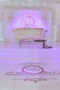 Personalised Wedding Wall Dance Floor Graphic Sticker Decal